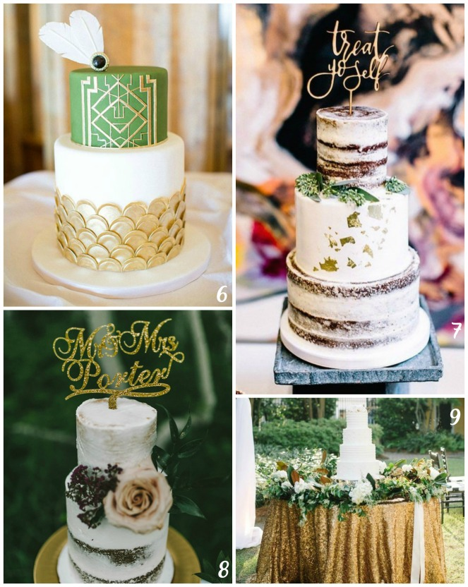 Cake collage numbered 2